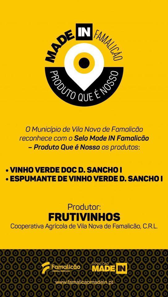 """A Frutivinhos foi certificada com o selo """"Made In Famalicão – Produto Que é Nosso"""""""